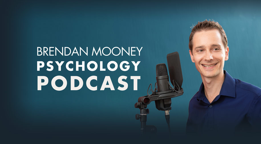 Picture of Psychologist Brendan Mooney Podcasting